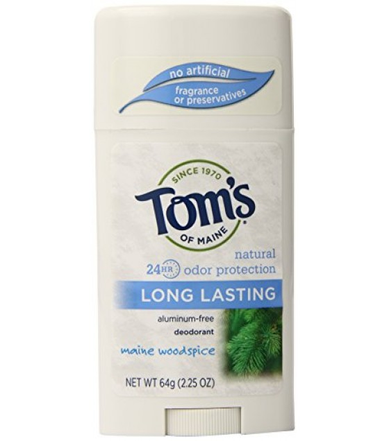 [Tom`S Of Maine] Deodorant Stick, Sensitive Skin, Woodspice