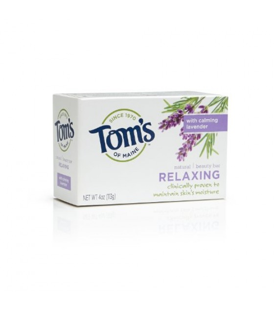 [Tom`S Of Maine] Bar Soap Relaxing w/Lavender, Twin Pack