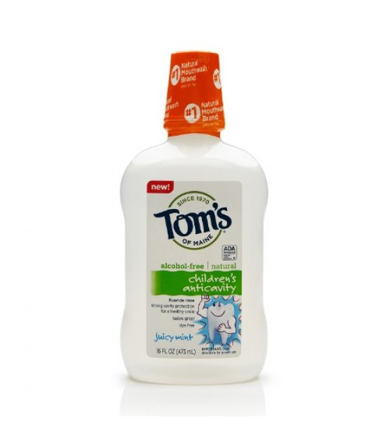 [Tom`S Of Maine] Mouthwash Juicy Mint w/Flouride, Alcohol Free