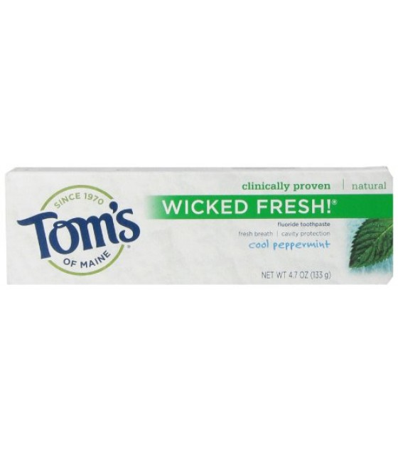 [Tom`S Of Maine] Toothpaste w/Fluoride Wicked Fresh! Peppermint