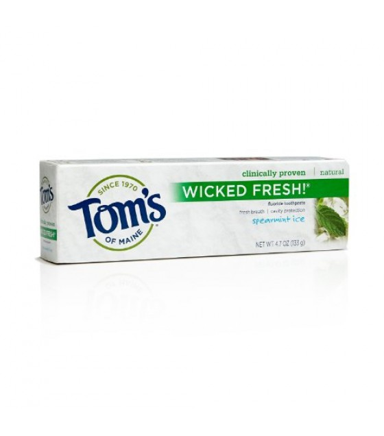 [Tom`S Of Maine] Toothpaste w/Fluoride Wicked Fresh! Spearmint Ice