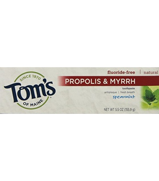 [Tom`S Of Maine] Toothpaste w/Propolis & Myrrh Spearmint, Fluoride Free