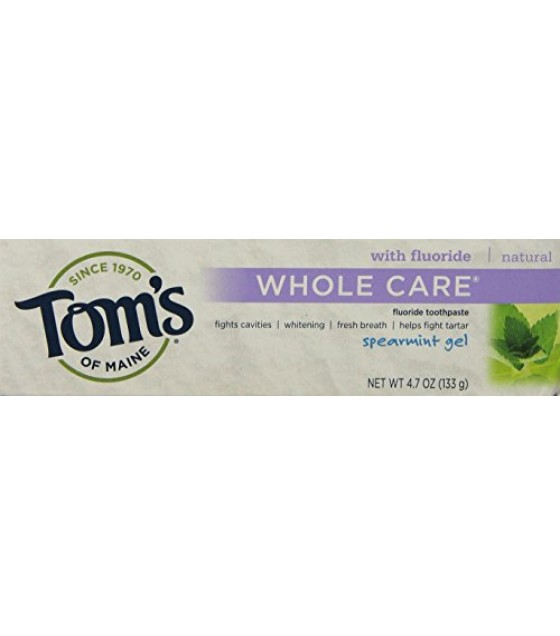 [Tom`S Of Maine] Whole Care Toothpaste Gel, Spearmint