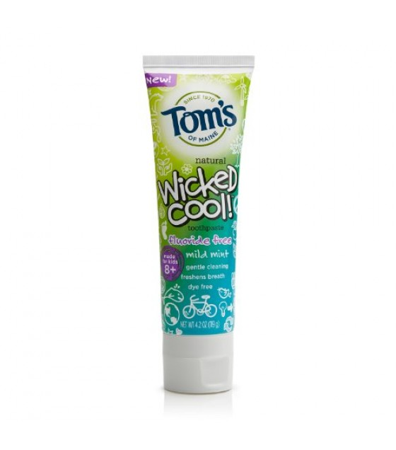 [Tom`S Of Maine] Toothpaste, Flouride Free Wicked Cool, Mild Mint