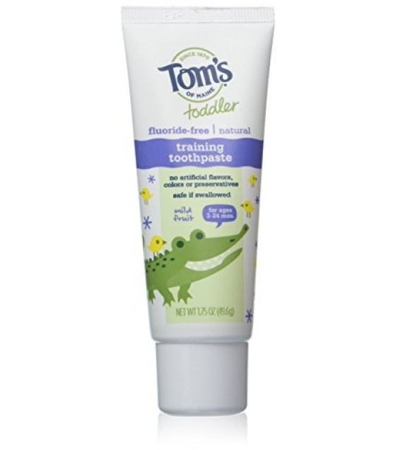 [Tom`S Of Maine] Toothpaste, Flouride Free Tdlr Training Tthpst, Mild Frt