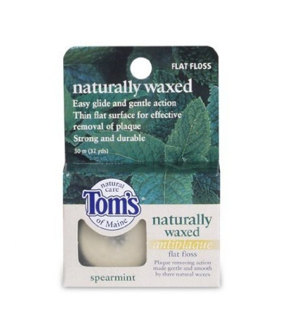 [Tom`S Of Maine] Floss Anti Plaque Flat Spearmint