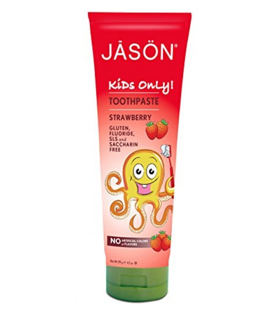 [Jason Natural Cosmetics] Kids Only! Toothpaste, Strawberry