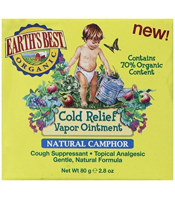 [Earths Best Baby Care] Cold Relief Vapor Ointment Natural Camphor