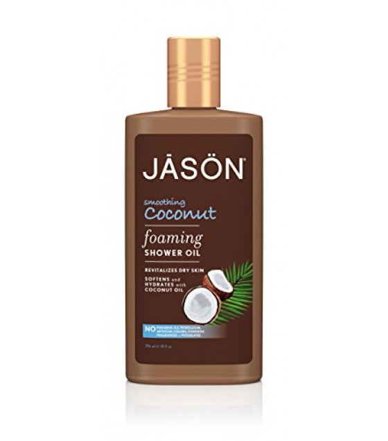 [Jason Natural Cosmetics] Foaming Shower Oil Smoothing, Coconut