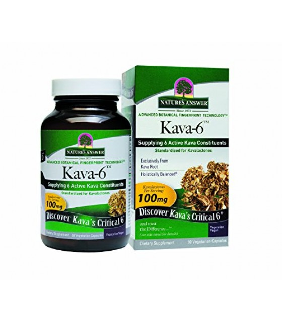 [Nature'S Answer] KAVA 6 CAPSULES,GF