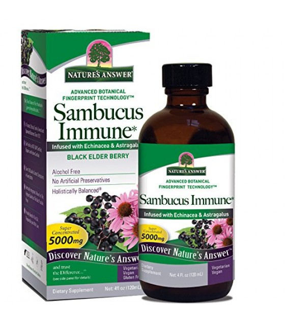 [Nature`S Answer] Alcohol Free Liquid Extracts Sambucus Immune Support