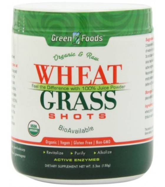 [Green Foods] Made With Organic Young Barley Leaves Wheat Grass Shot  100% Organic