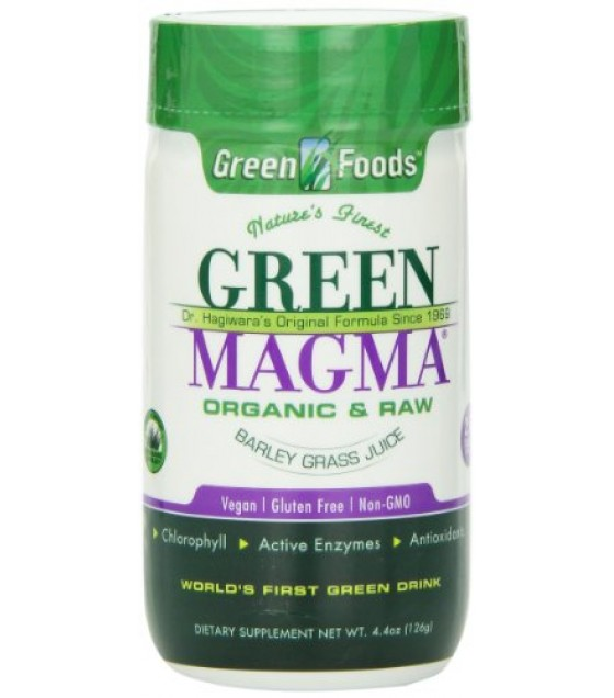 [Green Foods] Made With Organic Young Barley Leaves Green Magma (USA) Tabs  At least 70% Organic
