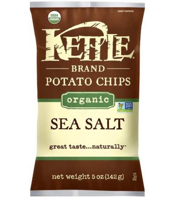 [Kettle Brand] Organic Kettle Chips Sea Salt  At least 95% Organic