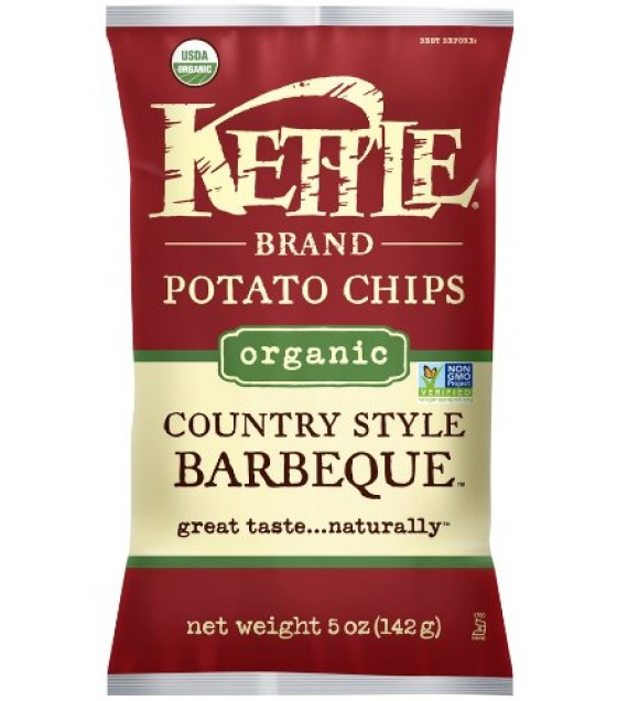 [Kettle Brand] Organic Kettle Chips Country Style Barbeque  At least 95% Organic