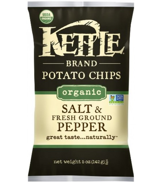 [Kettle Brand] Organic Kettle Chips Sea Salt & Black Pepper  At least 95% Organic
