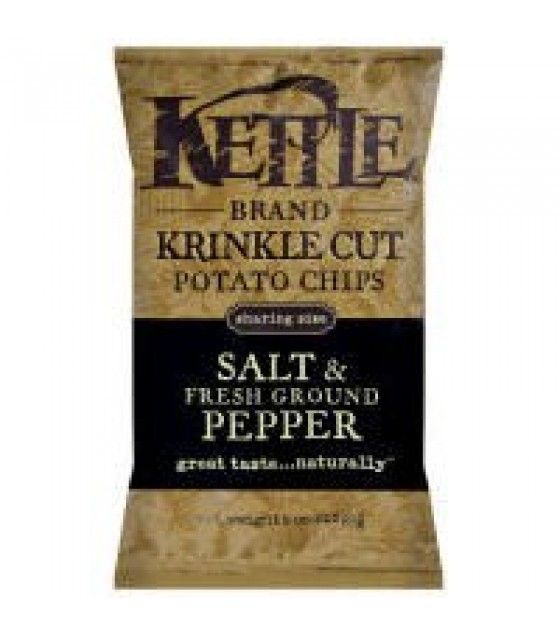 [Kettle Brand] Krinkle Cut Potato Chips Salt & Fresh Ground Pepper