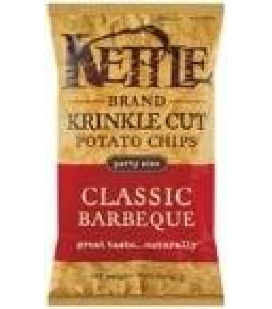 [Kettle Brand] Krinkle Cut Potato Chips Classic BBQ