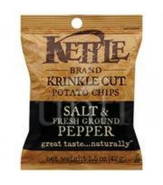[Kettle Brand] Snack Sizes Chips, Krinkle Cut, Salt/Pepper