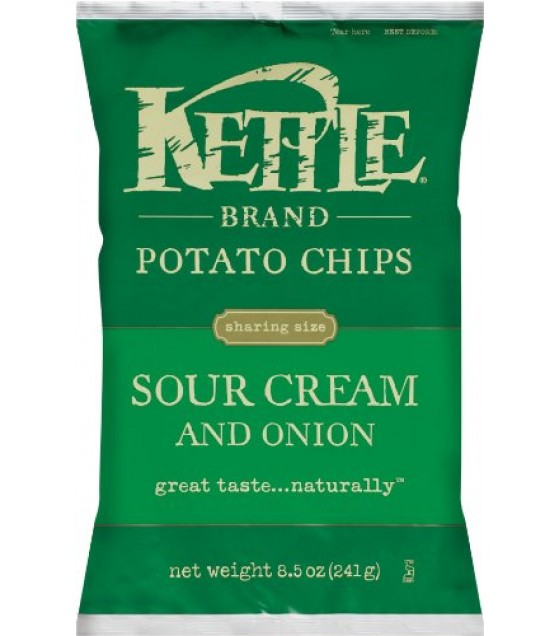 [Kettle Brand] Potato Chips Sour Cream, Onion & Chive