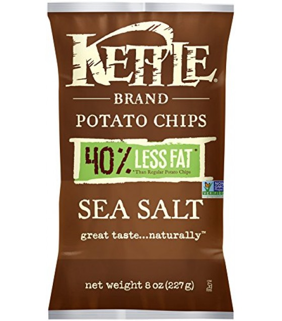 [Kettle Brand] Potato Chips Sea Salt, Reduced Fat