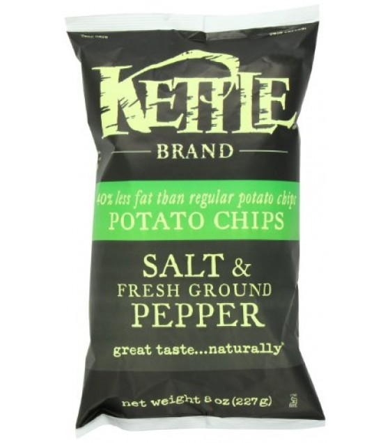 [Kettle Brand] Potato Chips Sea Salt/Fresh Grnd Pepper, RF