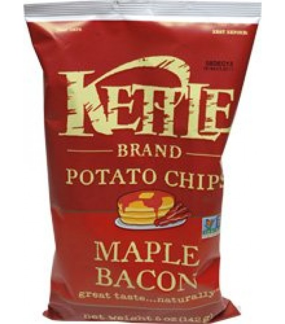 [Kettle Brand] Krinkle Cut Potato Chips Maple Bacon