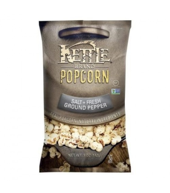 [Kettle Brand] Pre-Popped Popcorn Salt + Fresh Ground Pepper