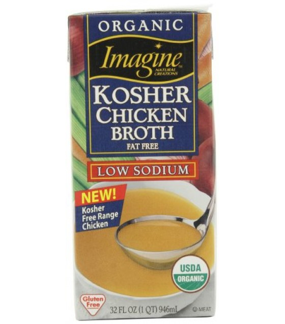 [Imagine Foods] Broths & Stocks, Low Sodium, Aseptic Chicken,Free Range,LS,Kosher  At least 95% Organic