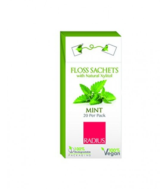 [Radius] Dental Floss Sachet, Xylitol Mint