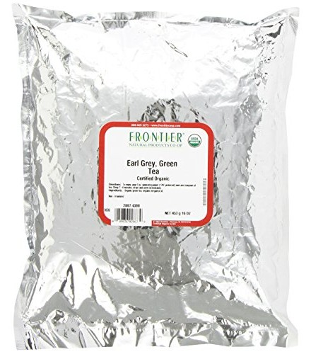 [Frontier Natural Products] Bulk Teas Green Earl Grey Tea  At least 95% Organic