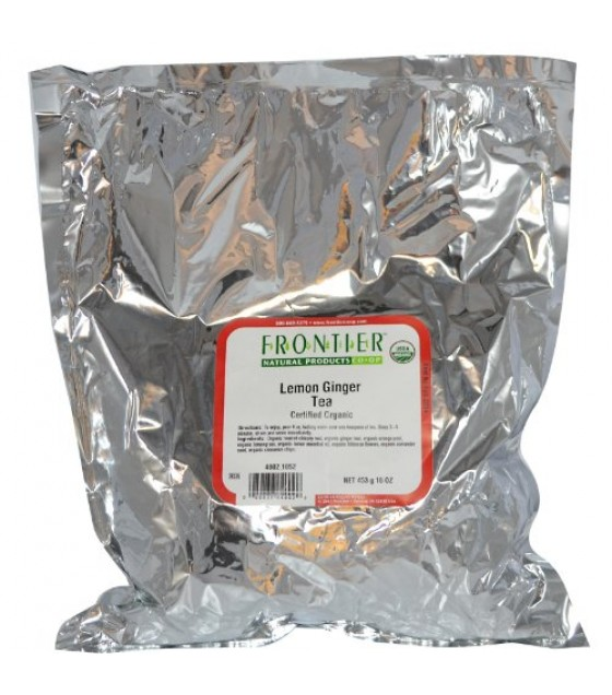 [Frontier Natural Products] Bulk Teas Tea, Lemon Ginger  At least 95% Organic