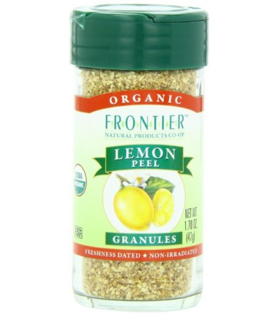 [Frontier Natural Products] Herbs & Spices Lemon Peel Granules  At least 95% Organic