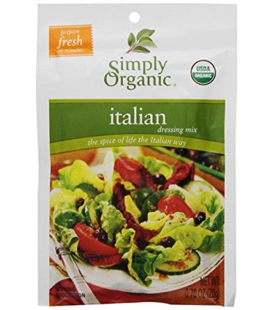 [Simply Organic] Salad Dressings Italian  At least 95% Organic