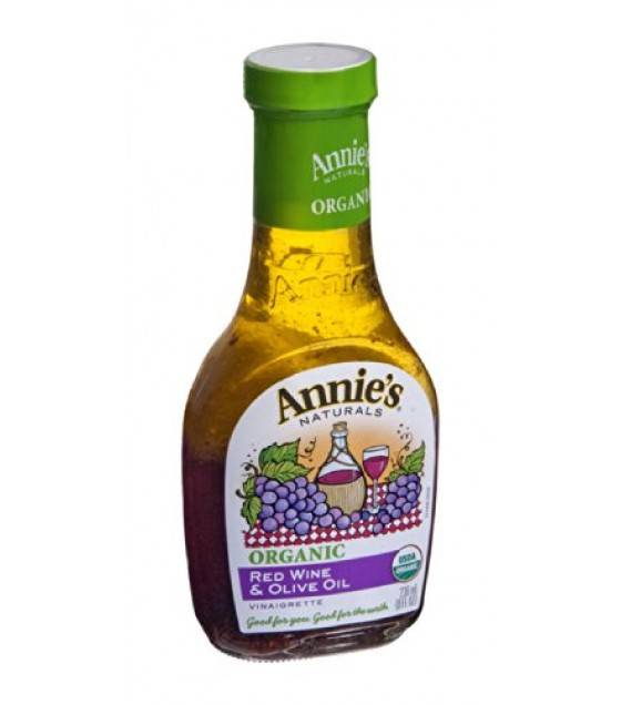 [Annie`S Naturals] Dressings Red Wine & Olive Oil Vinaigrette  At least 95% Organic
