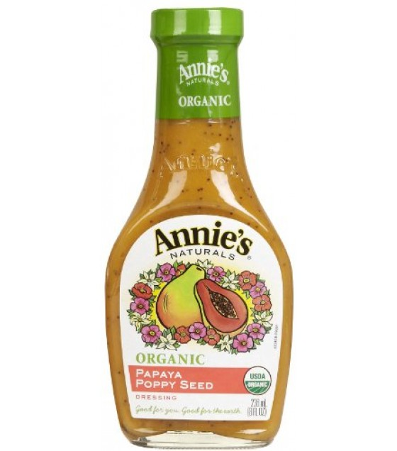 [Annie`S Naturals] Dressings Papaya Poppy Seed  At least 95% Organic