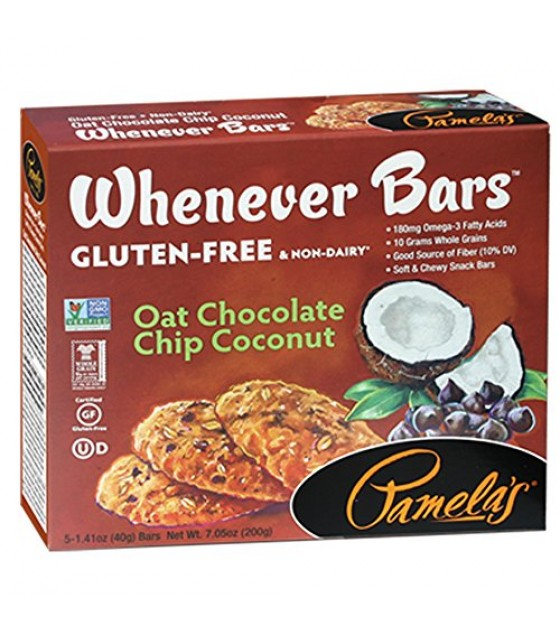 [Pamela`S Products] Whenever Bars Oat Chocolate Chip Coconut