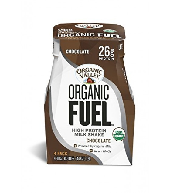 [Organic Valley] Organic Fuel Protein Shake Chocolate  At least 95% Organic