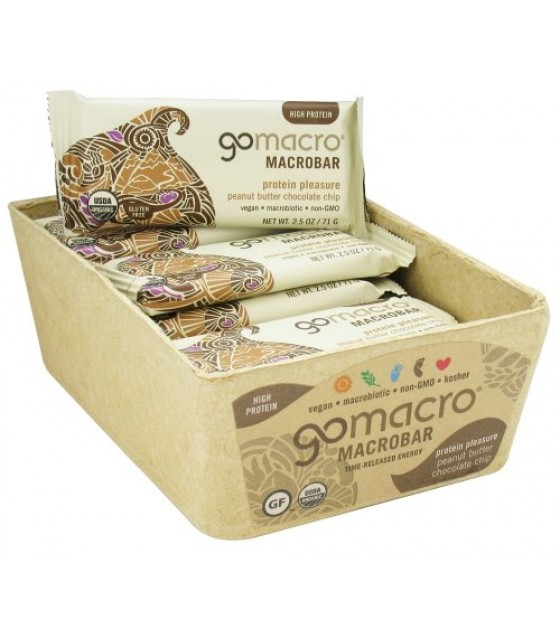 [Gomacro] Bars Peanut Butter Chocolate Chip  At least 95% Organic