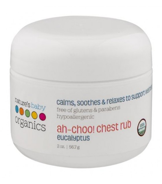 [Nature'S Baby Organics] CHST RUB,OG2,AH-CHOO,EUCL  At least 95% Organic