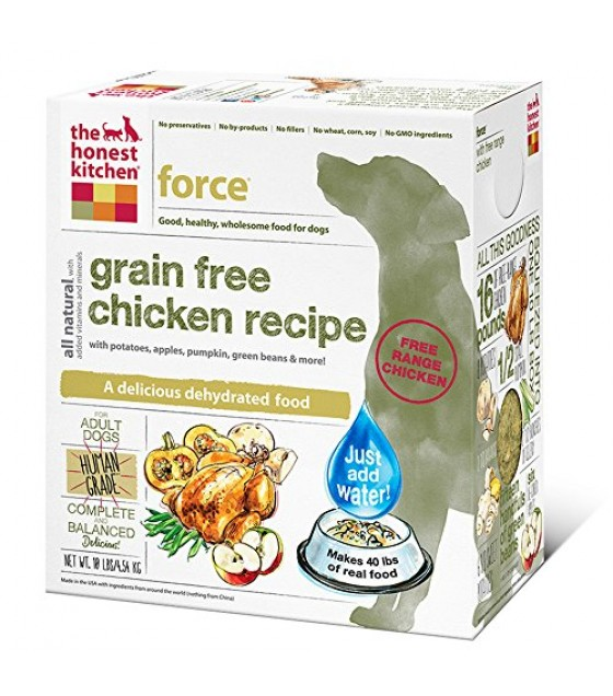 [Honest Kitchen] Natural Dehydrated Whole Food For Dogs Force, Chicken & Grain Free