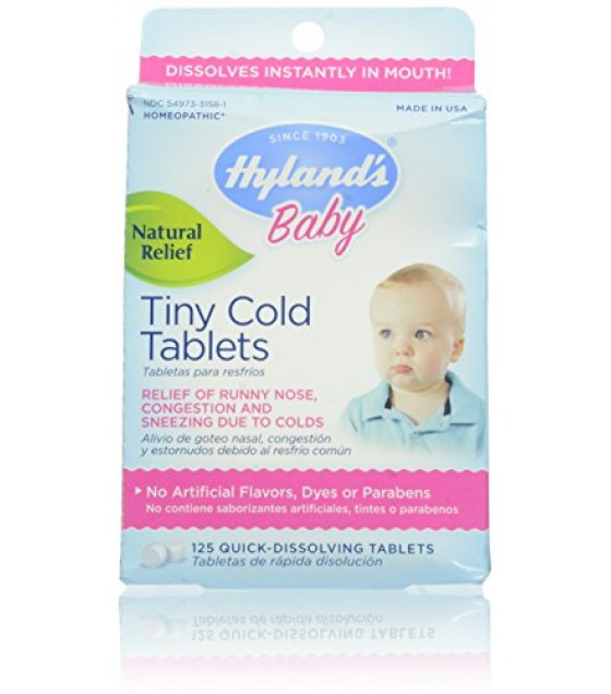 [Hylands Homeopathic Remedies] Remedies For Children Cold Tablets, Baby Tiny