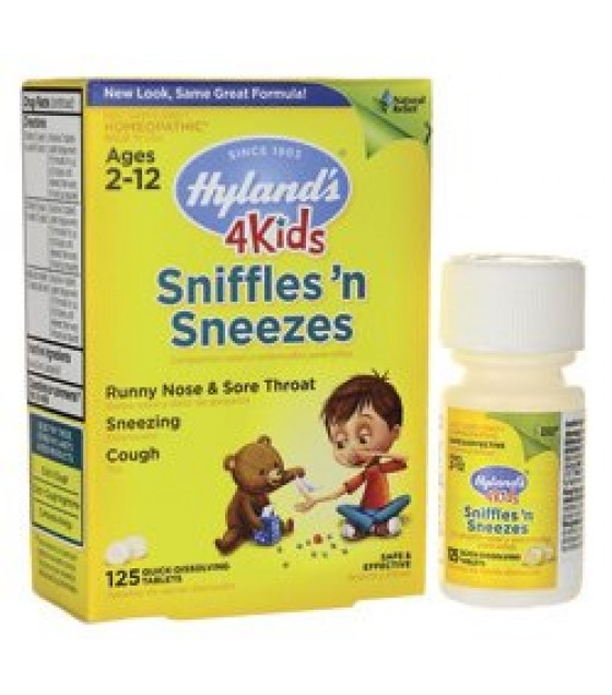 [Hylands Homeopathic Remedies] Remedies For Children Sniffles `n Sneezes 4 Kids
