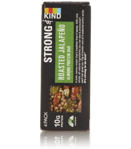 [Kind] Strong & Kind Protein Bars Roasted Jalapeno Almond, 4pk