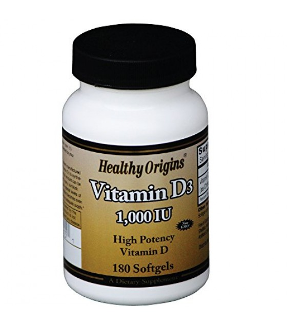 [Healthy Origins] VITAMIN D3,1,000 IU