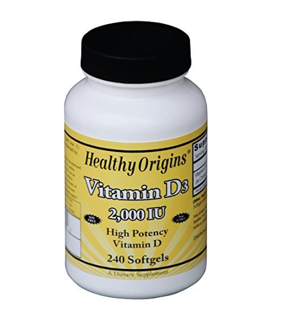 [Healthy Origins] VITAMIN D3,2,000IU