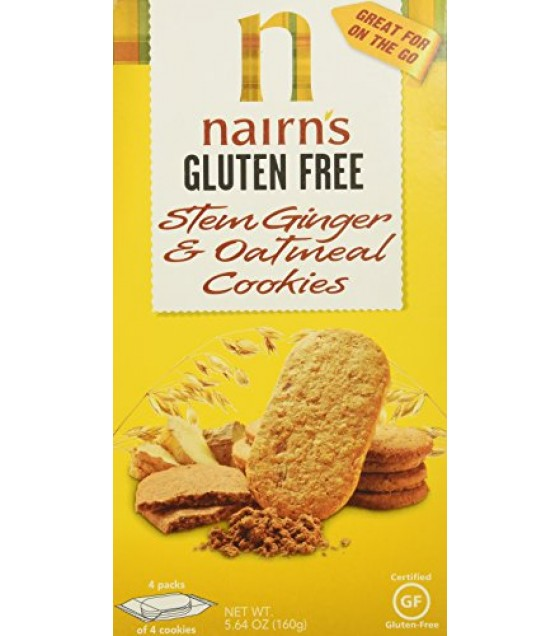 [Nairn`S] Cookies Oatmeal Stem Ginger, GF