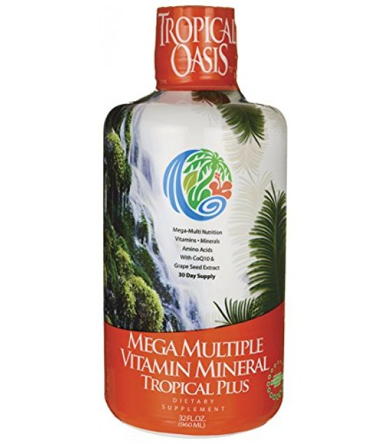 [Tropical Oasis] Liquid Dietary Supplements Tropical Plus, Multiple Vit Mineral