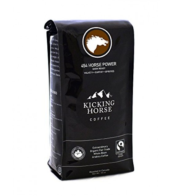 [Kicking Horse] Whole Bean Coffee 454 Horse Power  At least 95% Organic