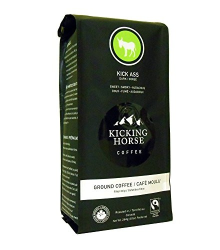 [Kicking Horse] Ground Coffee Kick Ass, Dark  At least 95% Organic